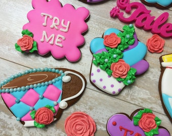 Alice in Wonderland Tea Party Cookies (One dozen)