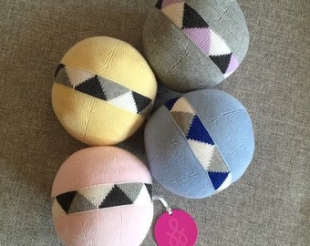 Cotton Knit Ball Rattle - Perfect Baby Gift