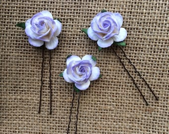 Flower hair pins, flower hair bridesmaids, bridal flower hair, boho bride , gift for girls