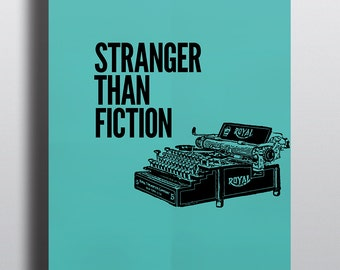 Stranger Than Fiction Minimalist Graphic Movie Inspired Poster