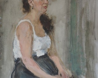 dreamer. oil painting portait