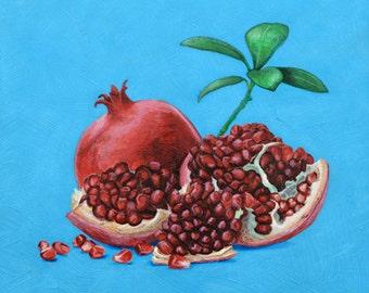 Blue pomegranates