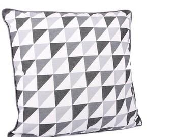 Shades of grey cushion x 2