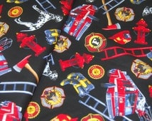 Popular Items For Fireman Fabric On Etsy