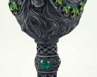 Wicca Maiden, Mother & Crone Chalice 7 1/2""