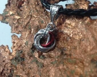 Silver rosette pendant gift for her