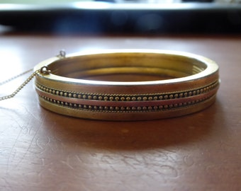 Antique Victorian Gold Filled Bangle Bracelet