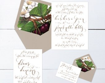 The Jean Suite - Printable Wedding Invitation Set
