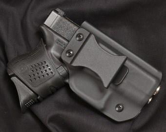 Kydex holster, Glock 26, 27, 33, & 39, Black, IWB, Right Hand