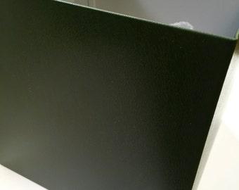 Large Cube Handmade Metal Planter, Green Coated Metal Finish