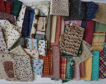Cotton Fabric Print Scraps 5 pounds Cute Country Mix