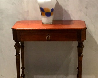 Antique Art Deco Side Table with Drawer