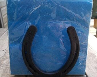Handmade Horseshoe napkin holder
