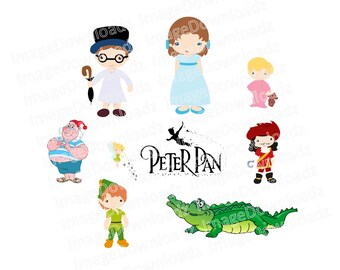 Peter Pan Collection // Captain Hook // Walt Disney // Smee // Tick Tock // Crocodile // Wendy // Peter // John // Tinkerbell