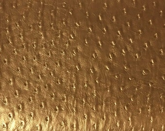 Vinyl Upholstery Fabric - Albany - Gold - Ostrich Animal Print Home Decor Upholstery Vinyl Fabric by the Yard - Available in 8 Colors