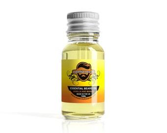 Essential Beards VANILLA & MANGO Beard Oil Beard Nourisher 10ml Made in the UK