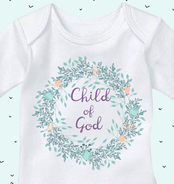Child of god christian onesies church baby clothes baby