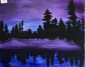 Canvas 5, Night Lake View