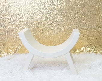 Curved Bench Photo Prop, Newborn Infant Toddler Photography Prop, Lofted Woodworks