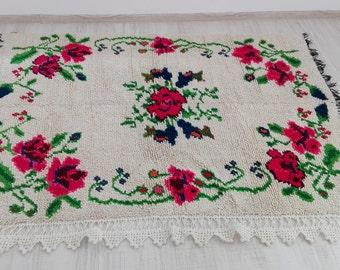Vintage Organic Wool Rug/Cover
