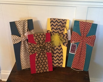 Fabric wooden crosses