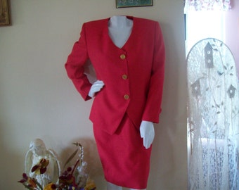 CLEARANCE SALE- Red Two Piece Suit by Stirling Cooper For Casual Corner, size 6