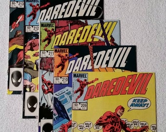 5 Daredevil Issues, #209-213 (1984)