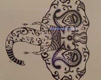Pen and Ink Elephant