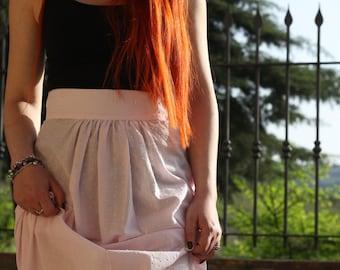 Long skirt, maxi skirt, long cotton skirt, long embroidered cotton skirt, pure cotton skirt, pink cotton skirt, pink skirt
