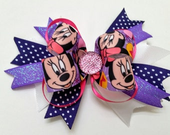 Med Purple Combination Bow / Minnie Mouse