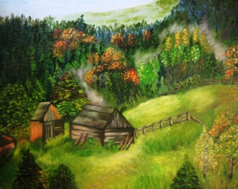 """The painting """"Autumn in the Mountains"""""""