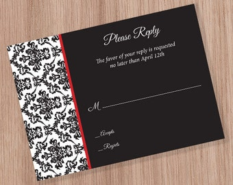 Damask RSVP Card (DIGITAL FILE)