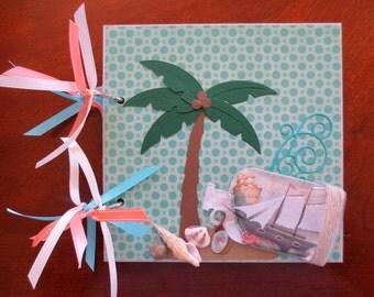 Beach/Travel/Florida/Hawaii Chipboard 6X6 Album