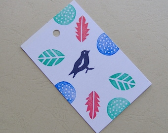 Sparrow Gift tags, bird gift tags, gift tags, set of 12, Sparrow Tags, gift tags Weddings, Baby Shower tags, Favor Tags, DIY Tags, leaf tags