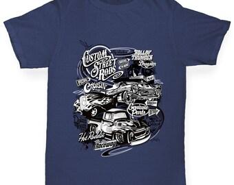 Girl's Hot Rod Car Flame T-Shirt