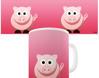 Pink Pig Ceramic Novelty Gift Mug