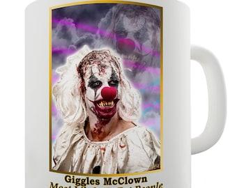 Scary Giggles Mc Clown Ceramic Tea Mug