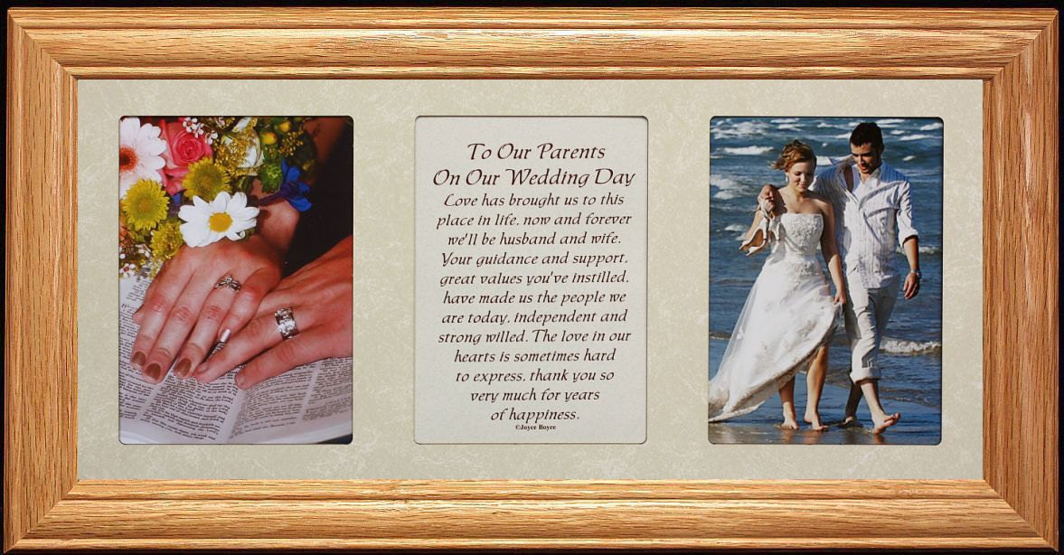 7x15 To Our PARENTS On Our WEDDING DAY Poetry Amp Photo Frame