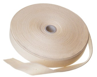 Natural Cotton Herringbone Twill Tape 100 Yards Arts and Craft Sew Sewing