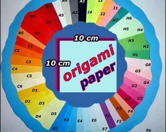 120 ORIGAMI PAPER 10 x 10 cm choix couleurs colour choice