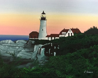 Portland Headlight Collection - 2 Painting Prints