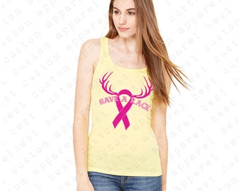 Pink Ribbon Save A Rack Breast Cancer Women's Tank Top Awareness Tanks
