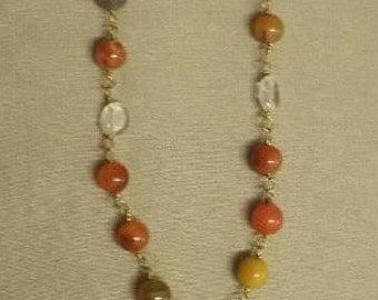 XBN4 Citrine Acorn Necklace
