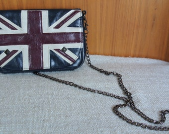 Union Jack Purse// Union Jack Clutch // British Union Jack Item// Vintage Union Jack// Funky Union Jack Purse// Vintage Statement Union Jack