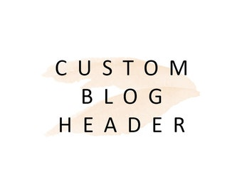 Custom Blog Header