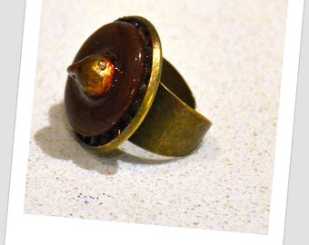Chocolate Adjustable Handmade Ring