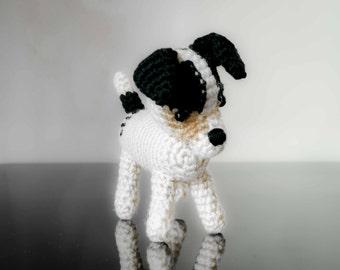 Custom made crochet Jack Russell Dog Amigurumi