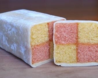 Gluten Free, Wheat Free and Dairy Free Battenburg Cake