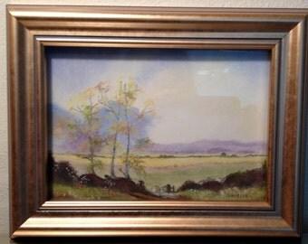 Original artwork, Harvest Time, done in pastels