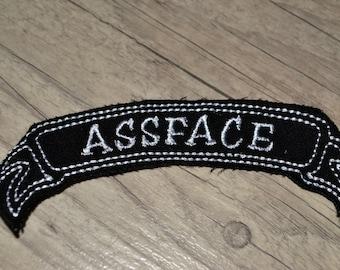 As4face Punk Rock Alternative Biker Iron On Ribbon Patch
